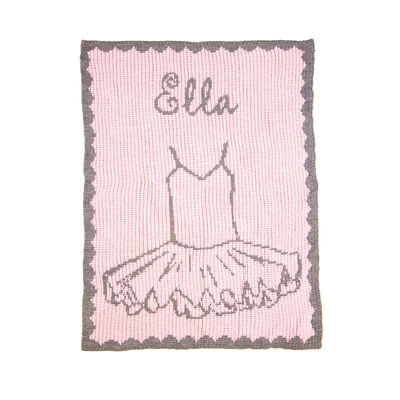 Child's Butterscotch Blankees Personalized Sweet Ballerina Blanket, , default
