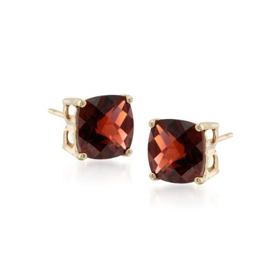 4.00 ct. t.w. Garnet Stud Earrings in 14kt Yellow Gold, , default