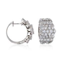 """5.00 ct. t.w. Diamond Hoop Earrings in 18kt White Gold. 5/8"""", , default"""