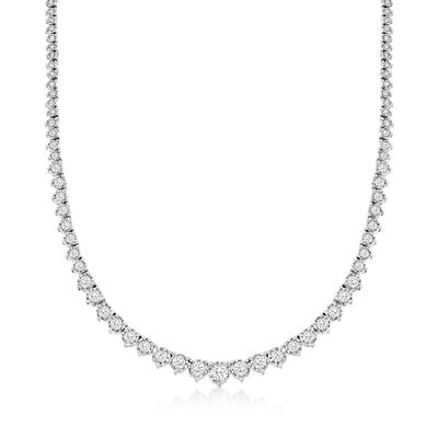 5.00 ct. t.w. Diamond Graduated Tennis Necklace in Sterling Silver