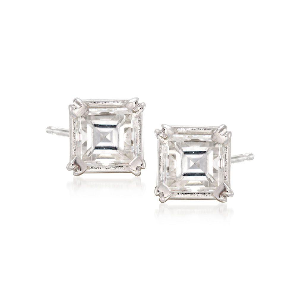 92fe630a6 C. 2000 Vintage .52 ct. t.w. Emerald-Cut Diamond Stud Earrings in ...