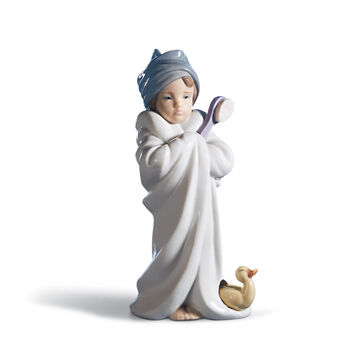 "Lladro ""Bundled Bather"" Porcelain Figurine , , default"