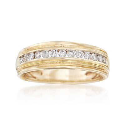 Men's .50 ct. t.w. Diamond Ring in 14kt Yellow Gold, , default