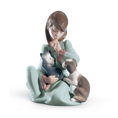 "Lladro ""Cat Nap"" Porcelain Figurine, , default"
