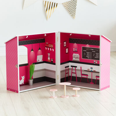"Child's ""Dreamland"" City Cafe Pink Dollhouse"