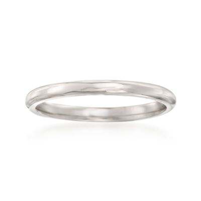 Women's 2mm Platinum Wedding Ring