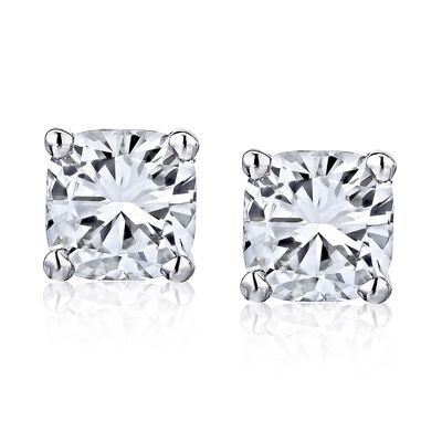 .95 ct. t.w. Certified Diamond Stud Earrings in Platinum, , default