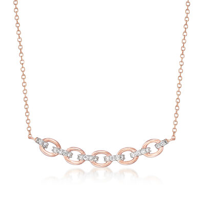 .25 ct. t.w. Diamond Link Necklace in 14kt Rose Gold