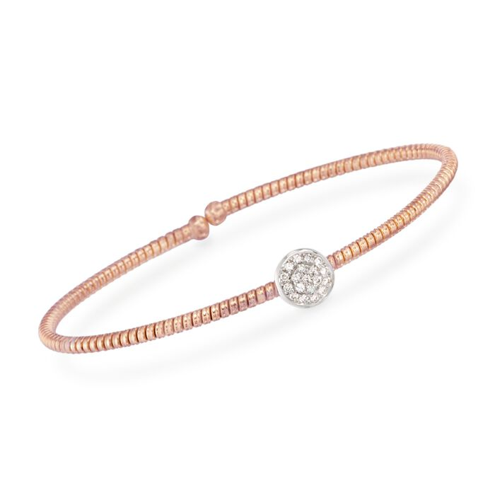 "Simon G. .14 ct. t.w. Diamond Circle Bracelet in 18kt Rose Gold. 7"", , default"