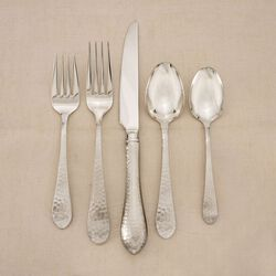 "Reed & Barton ""Hammered Antique"" 18/10 Stainless Steel Flatware  , , default"