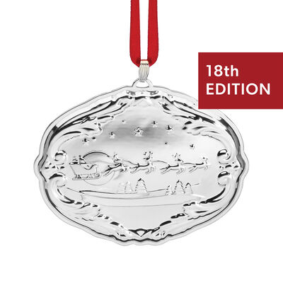 Reed & Barton 2020 18th Edition Sterling Silver Francis 1st Songs of Christmas Ornament