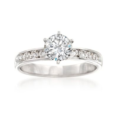 .40 ct. t.w. Diamond Engagement Ring Setting in 14kt White Gold