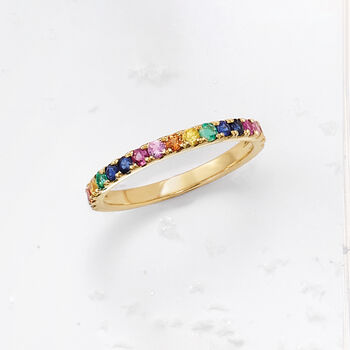 .56 ct. t.w. Mixed Gemstone Ring in 14kt Yellow Gold