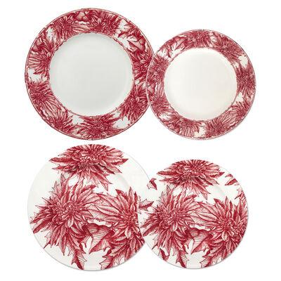 "Caskata ""Poinsettia"" Red and White Porcelain Dinnerware, , default"