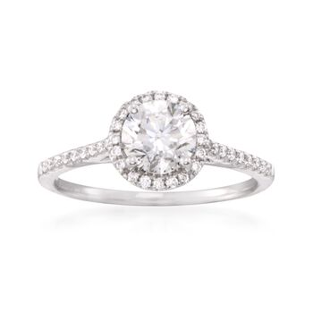 1.28 ct. t.w. Certified Diamond Engagement Ring in 18kt White Gold, , default