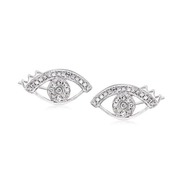 .24 ct. t.w. Diamond Eye Earrings in 18kt White Gold