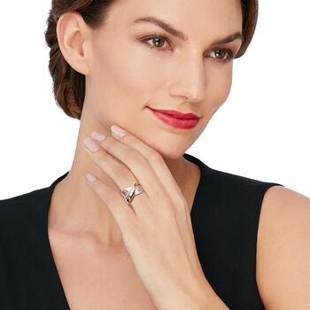 Simon G. .12 ct. t.w. Diamond Crisscross Ring in 18kt Two-Tone Gold. Size 7, , default