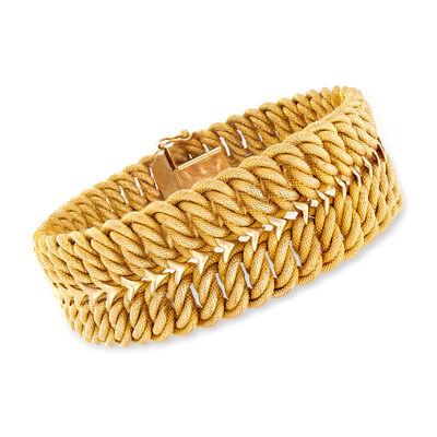 C. 1980 Vintage 18kt Yellow Gold Twisted-Link Bracelet, , default