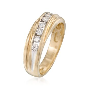 Men's .50 ct. t.w. Channel-Set Diamond Wedding Ring in 14kt Yellow Gold, , default