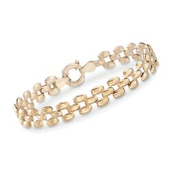 "14kt Yellow Gold Panther-Link Bracelet. 7"", , default"