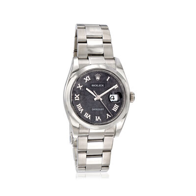 Pre-Owned Rolex Datejust Men's 36mm Automatic Watch in Stainless Steel, , default