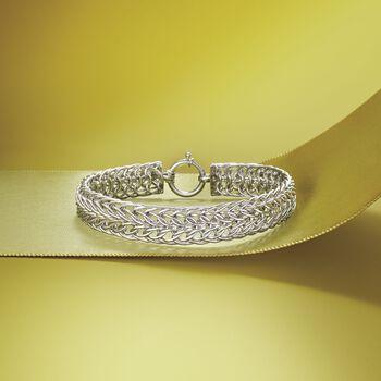Sterling Silver Sedusa-Link Bracelet, , default