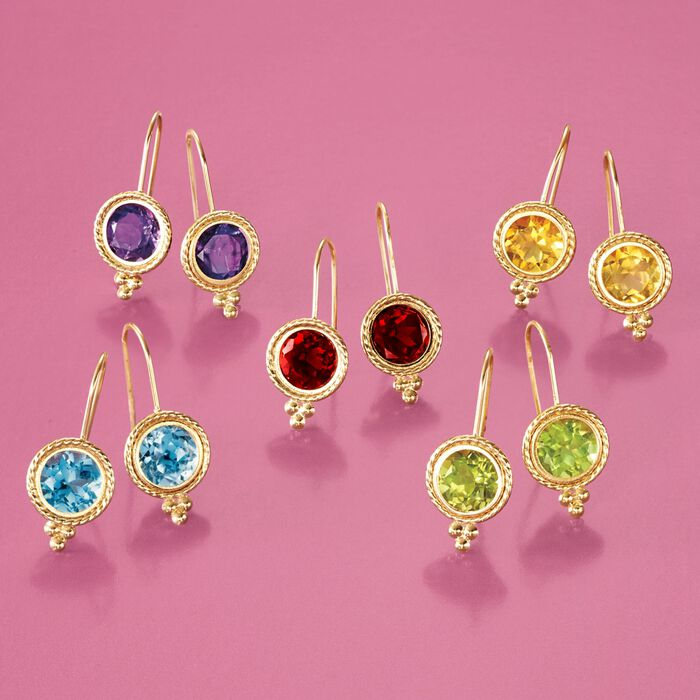 1.40 ct. t.w. Citrine Drop Earrings in 14kt Yellow Gold