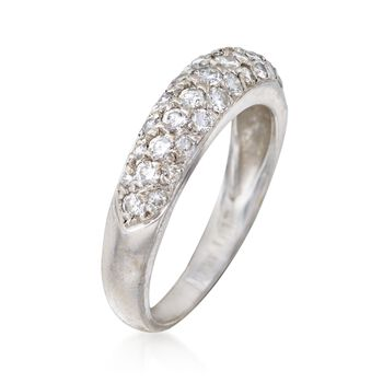 C. 1990 Vintage .75 ct. t.w. Pave Diamond Ring in 14kt White Gold. Size 6.5, , default