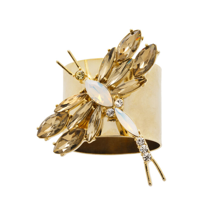 Set of 2 - Dragonfly Napkin Rings by Joanna Buchanan, , default