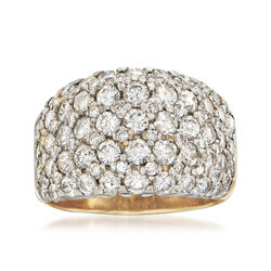 C. 1980 Vintage 3.15 ct. t.w. Pave Diamond Ring in 14kt Yellow Gold, , default