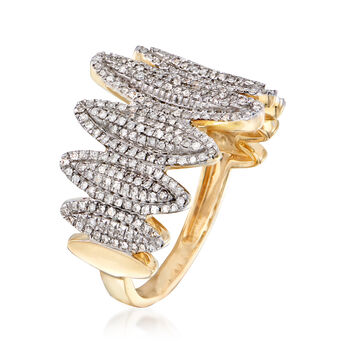 .47 ct. t.w. Diamond Oval Ring in 14kt Yellow Gold, , default