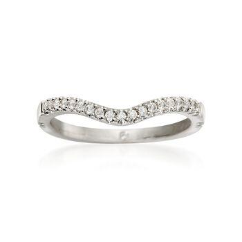 Gabriel Designs .12 ct. t.w. Diamond Wedding Ring in 14kt White Gold, , default