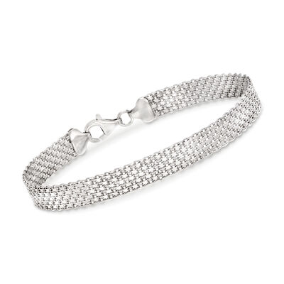 Sterling Silver Bismark-Link Bracelet, , default