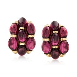 16.00 ct. t.w. Multi-Oval Garnet Earrings in 14kt Yellow Gold, , default