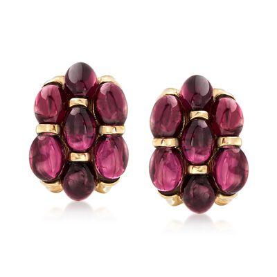 16.00 ct. t.w. Multi-Oval Garnet Earrings in 14kt Yellow Gold, , default