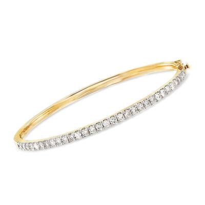 Diamond Bangle Bracelet in 14kt Yellow Gold