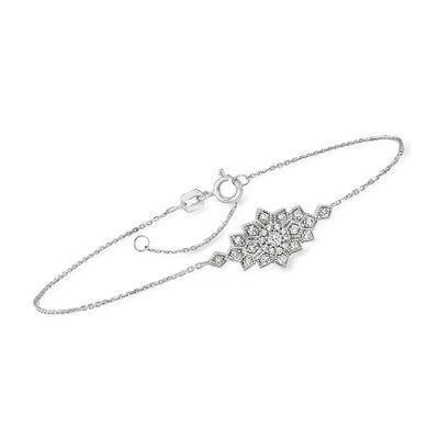 .25 ct. t.w. Diamond Burst Bracelet in Sterling Silver