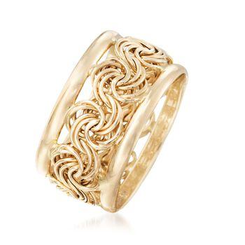 14kt Yellow Gold Rosette Ring, , default