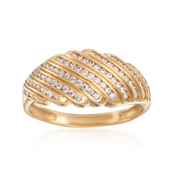 .40 ct. t.w. CZ Shrimp Ring in 14kt Yellow Gold, , default