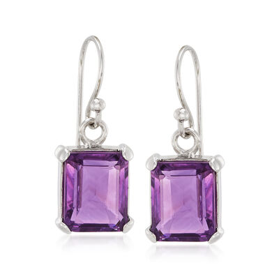 5.50 ct. t.w. Cape Amethyst Drop Earrings in Sterling Silver, , default