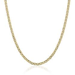 "Men's 3.7mm 14kt Yellow Gold Concave Anchor Chain Necklace. 18"", , default"