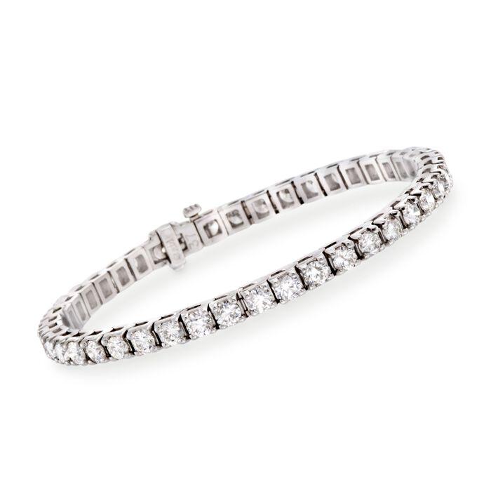 """8.00 ct. t.w. Diamond Round Tennis Bracelet in 14kt White Gold. 7"""""""