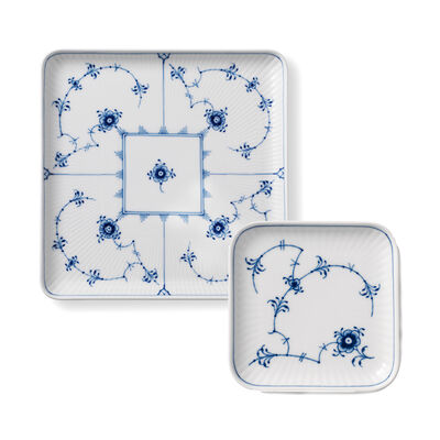 "Royal Copenhagen ""Blue Fluted Plain"" Porcelain Square Plate"