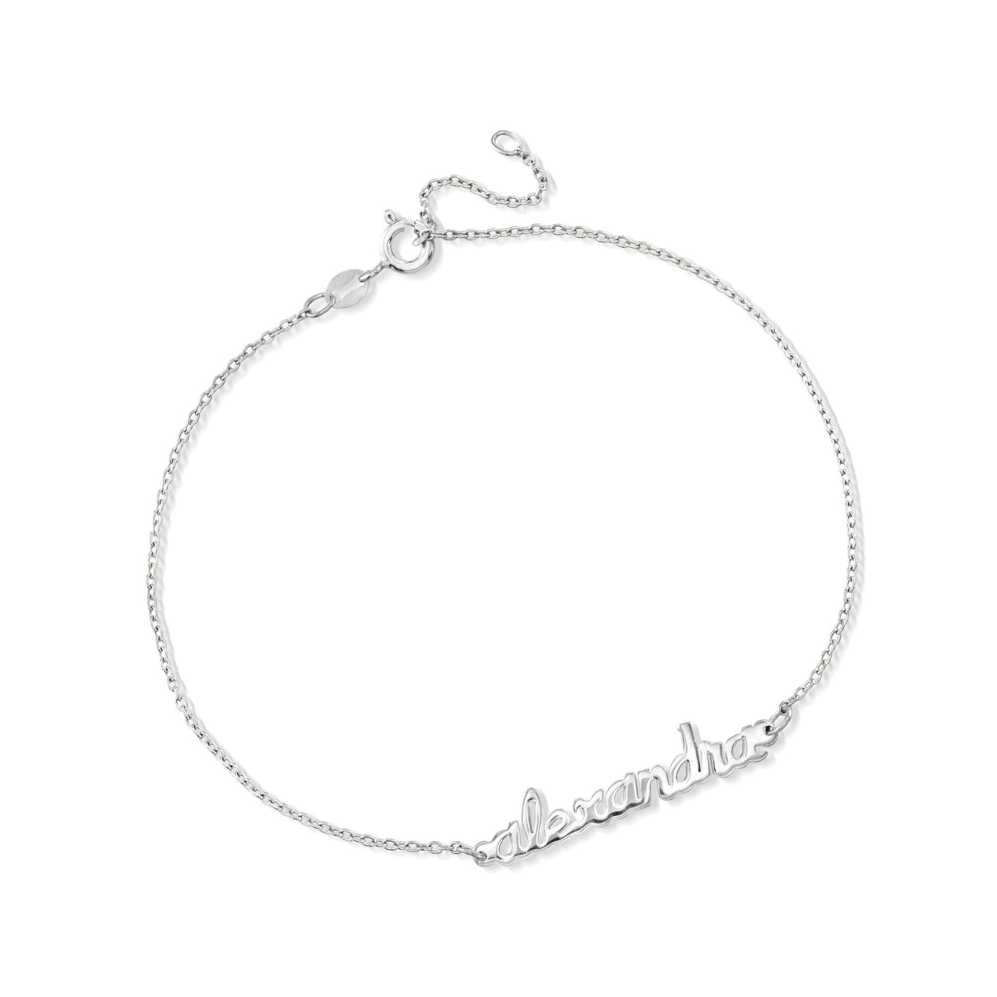 image sterling silver limoges moon jewelry name zoom engraved roll anklet to model larger drag half over