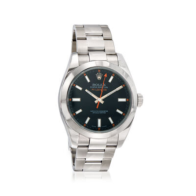Pre-Owned Rolex Milgauss Men's 40mm Automatic Watch in Stainless Steel, , default