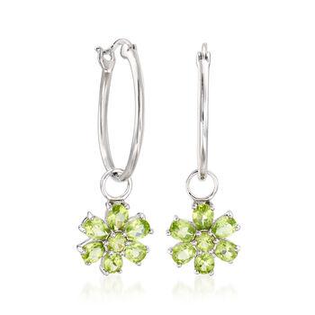 """10.50 ct. t.w. Multi-Gemstone Interchangeable Hoop Earrings in Sterling Silver. 1 1/4"""", , default"""