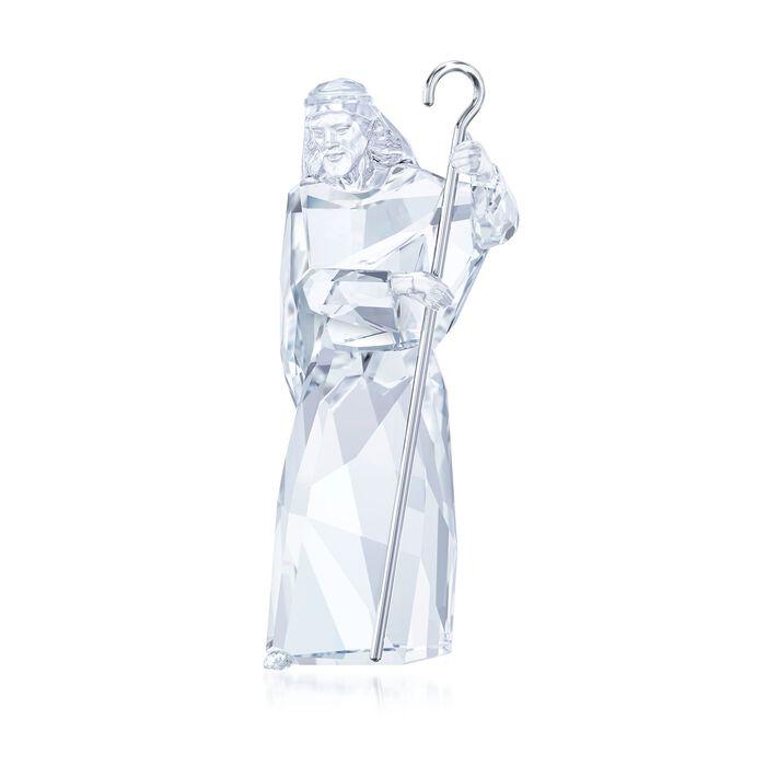 "Swarovski Crystal ""Nativity"" Crystal and Silvertone Shepherd Figurine"