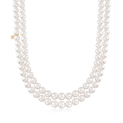 Mikimoto 7-9mm A1 Akoya Pearl Two-Strand Necklace with 18kt Yellow Gold, , default