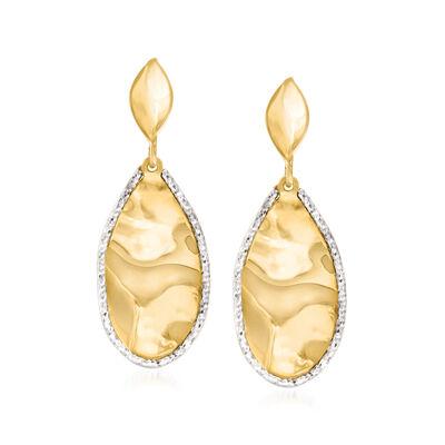 Italian 14kt Yellow Gold Teardrop Earrings