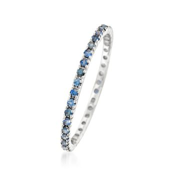 .33 ct. t.w. Sapphire Eternity Band in 14kt White Gold, , default